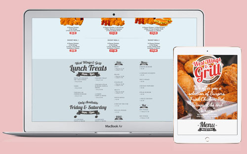 West Wings and Grill Website